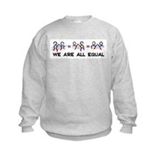 We Are All Equal Pair Logo Sweatshirt