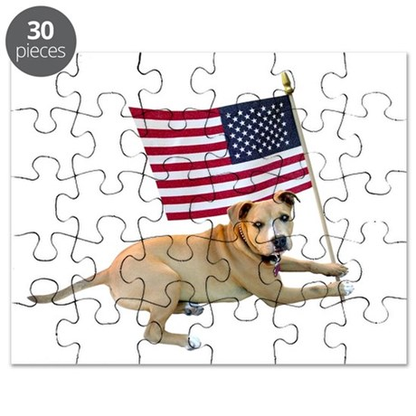 American Flag Pit Bull Puzzle