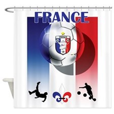 France French Football Shower Curtain
