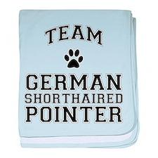 Team German Shorthaired Pointer baby blanket