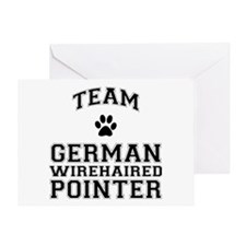 Team German Wirehaired Pointer Greeting Card