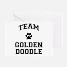Team Goldendoodle Greeting Card