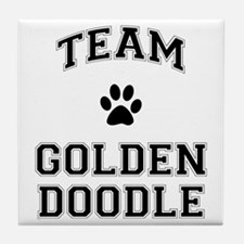 Team Goldendoodle Tile Coaster