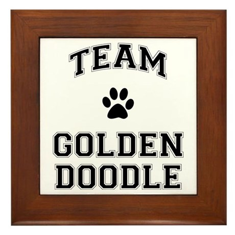 Team Goldendoodle Framed Tile