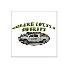 """Tulare County Sheriff Square Sticker 3"""" x 3"""""""