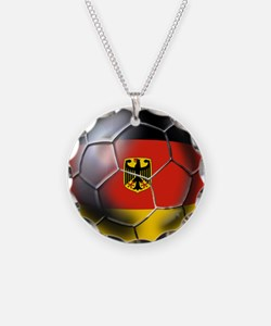 German Soccer Ball Necklace