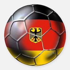 German Soccer Ball Round Car Magnet