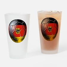 German Soccer Ball Drinking Glass