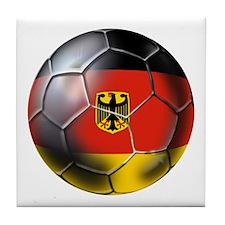 German Soccer Ball Tile Coaster