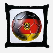 German Soccer Ball Throw Pillow