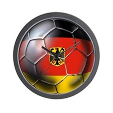 German Soccer Ball Wall Clock