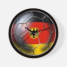 German Soccer Ball Wall Clock