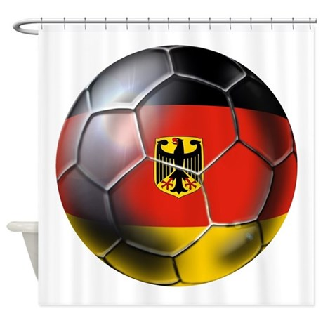 German Soccer Ball Shower Curtain