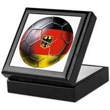 German Soccer Ball Keepsake Box