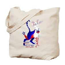 4th Of July American Kitty Shirt Tote Bag