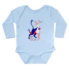 4th Of July American Kitty Shirt Long Sleeve Infan