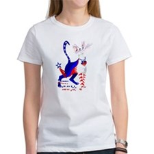 4th Of July American Kitty Shirt Tee