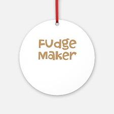 Fudge Maker Ornament (Round)