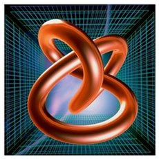 Art of mathematical knotted torus Framed Print