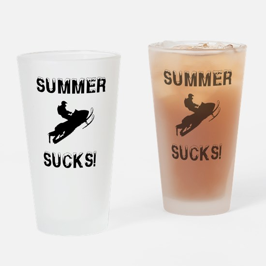 Cute Sledding Drinking Glass