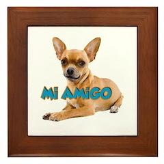 MI AMIGO CHIHUAHUA Framed Tile