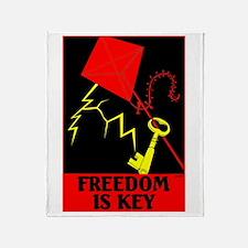3-Freedom is key.jpg Throw Blanket