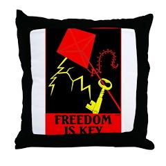 3-Freedom is key.jpg Throw Pillow