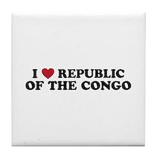 I Love Republic of the Congo Tile Coaster