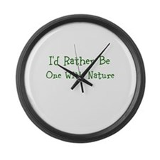 One With Nature Large Wall Clock
