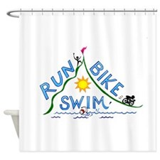 Run, Bike, Swim Shower Curtain