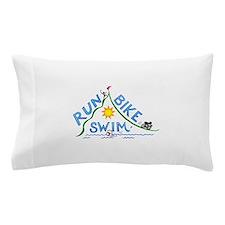 Run, Bike, Swim Pillow Case