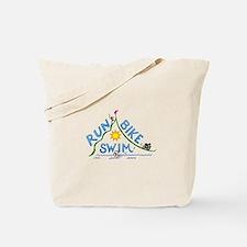 Run, Bike, Swim Tote Bag