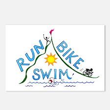 Run, Bike, Swim Postcards (Package of 8)