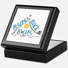 Run, Bike, Swim Keepsake Box
