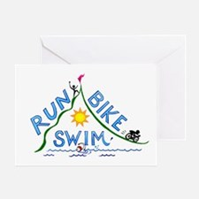 Run, Bike, Swim Greeting Card