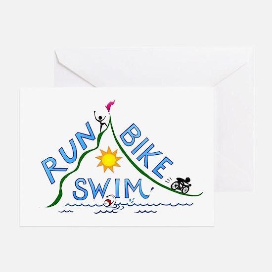 Run, Bike, Swim Greeting Card