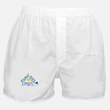 Run, Bike, Swim Boxer Shorts