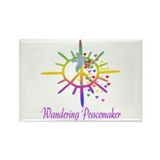 Wandering Peacemaker Rectangle Magnet