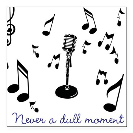 """Never A Dull Moment Square Car Magnet 3"""" x 3"""""""