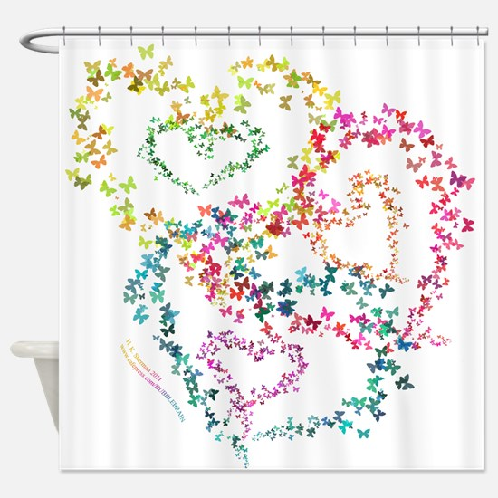 Hearts All Aflutter! - Shower Curtain