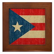 Vintage Puerto Rico Framed Tile
