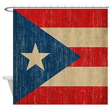 Vintage Puerto Rico Shower Curtain
