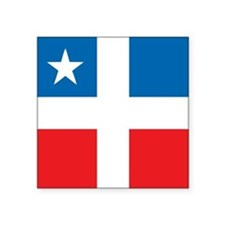 "Lares Revolutionary Flag Square Sticker 3"" x 3"""