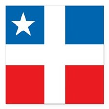 "Lares Revolutionary Flag Square Car Magnet 3"" x 3"""