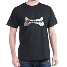 I Love My Pekingese - Dog Bone T-Shirt