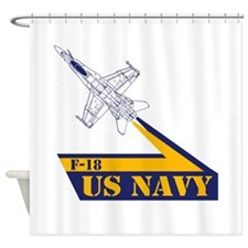 US NAVY Hornet F-18 Shower Curtain