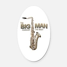 RIP Big Man Clarence Clemons Oval Car Magnet