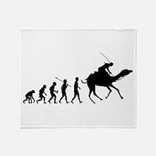 Camel Racing Throw Blanket