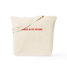 Jesus is my go bag Tote Bag