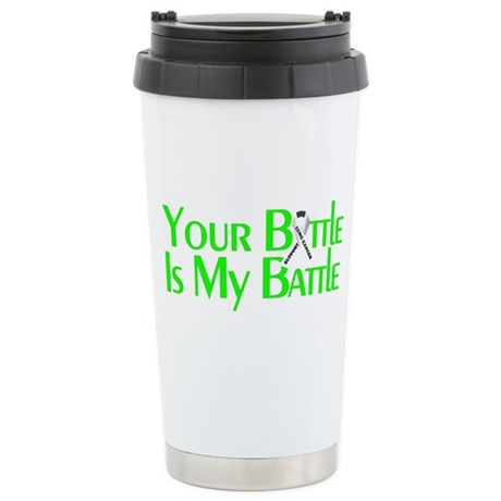Lung Cancer Support Stainless Steel Travel Mug